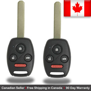2 New Replacement Keyless Entry Remote Control Key Fob For Honda Civic Acura Csx