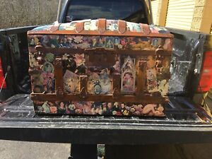 Antique Victorian Dome Top Steamer Trunk Late 1800 S Early 1900 S