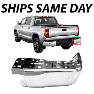 New Chrome Steel Passengers Rh Bumper End For 2014 2018 Toyota Tundra With Park