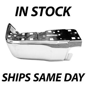 New Chrome Steel Drivers Lh Rear Bumper End For 2014 2018 Toyota Tundra Pickup