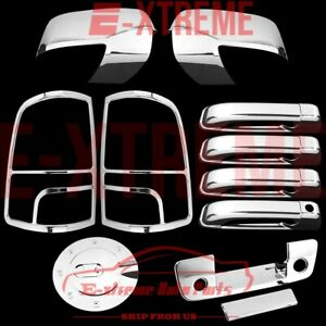 2009 2012 Dodge Ram 1500 Chrome Covers Mirror Door Handle Tailgate Taillight Gas