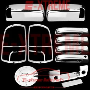 For 10 2017 Dodge Ram 2500 Chrome Cover Mirror Dr Handle Tailgate Taillight Gas