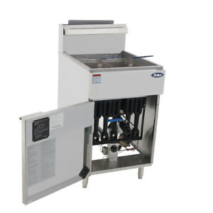 Atosa Atfs 75 Hd 75lb S s Commercial Kitchen Natural Gas Deep Fryer