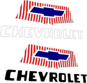 Chevrolet 1954 1955 1st Series Truck Hood Emblem Decal Set Made In Usa Chevy