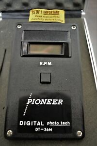 Pioneer Digital Photo Electric Rpm Tachometer Dt 36 W Hard Case