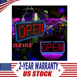 Large Open Neon Sign Led Light Tube For Business Store Bar Shop Decor 24 x12 Us
