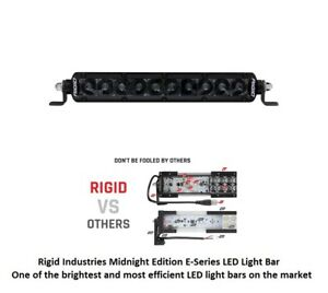 Rigid Industries 10 Sr Series Pro Midnight Edition Spot Optics Led Light Bar