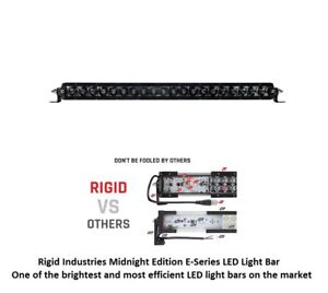 Rigid Industries 20 Sr series Pro Midnight Edition Spot Optics Led Light Bar