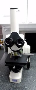 Nikon Eclipse E400 Biological Microscope With Stage Vertical Tube Adapter 1