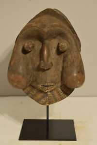 African Mask Bamun Cameroon Ceremonial Large Dance Initiation Carved Wood Bamun