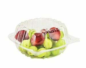 Dart Container 100 Piece Clear Hinged Plastic Food Take Out To go clamshell Con
