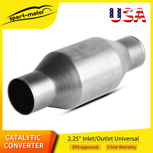 2 25 In out Universal Hight Flow Catalytic Converter Epa Approved 410225