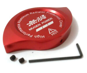 Red Mugen Power Emblem Racing Radiator Cap Decoration Protection Fit All Type