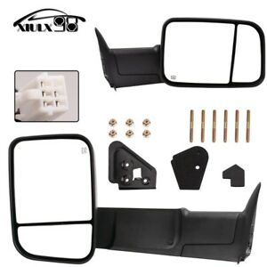 Upgrade Towing Mirrors Pair For 98 01 Dodge Ram 2002 Ram 2500 3500 Power Heated