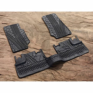 2007 2013 Jeep Wrangler Four Door Slush Style Floor Mats Winter Mats