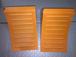 Lot Of 2 Part No 22xw87 Wheel Chock Molded Rubber Orange W free Shipping
