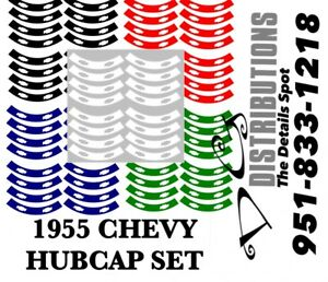 1955 Chevy Bel Air Convertible Coupe Sedan Nomad Hubcap Decals For All 4 Caps