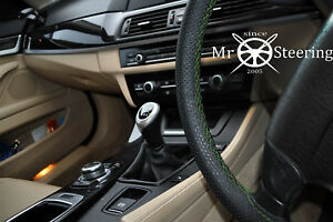 Perforated Leather Steering Wheel Cover For Vw Rabbit Golf V 04 Green Double St