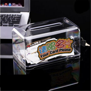 High Capacity Business Card Holder Ballot Box Suggestion Box With Stickers