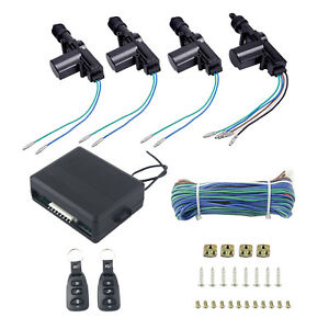 New 4 Door Power Central Lock Kit With 2 Keyless Entry Remote Control Fit Ram