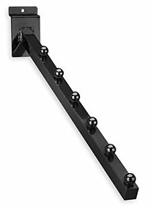 Only Hangers New 6 Ball Slatwall 3 4 Square Tubing 16 l Waterfall Black 10 Pcs