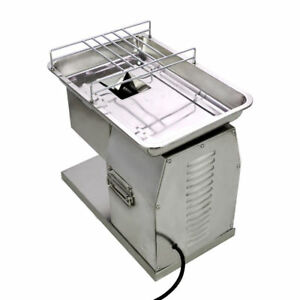 110v Meat Cutting Machine Cutter Slicer 250kg Output With 2 Sets Blade