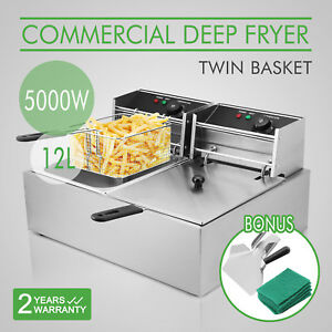 12l Commercial Electric Deep Fryer Basket French Fry Restaurant Xmas accessories