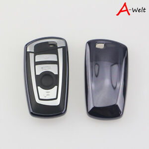 Black Tpu Remote Smart Key Cover Fob Case Shell For Bmw 1 3 5 6 7 Series X3 X5