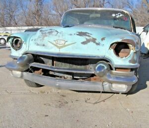 1956 Cadillac Coupe Deville 2 Door Front Bumper With Dagmars