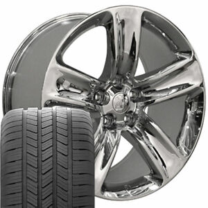 20 Rims Tires Fit Jeep Dodge Jeep Cherokee Srt Chrome Wheels Gy