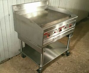 Magikitch n Mkg 36 Commercial Gas Griddle W Snap Action Thermostat And Stand
