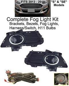 Fog Light Set For 2013 2016 Ford Fusion S Se Brackets Lamps Bezels Dot Harness