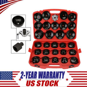 30x Oil Filter Wrench Cup Socket Cap Type Tool Set Automotive Removal 3 8 Usa