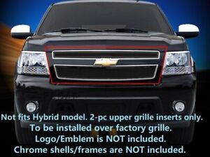 Black Mesh Grille Front Grill For Chevy Avalanche Suburban Tahoe 2007 2014