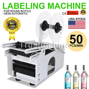 Mt 50 Semi automatic Round Bottle Labeling Machine Labeler Electric Top Quality