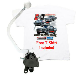 Hurst 3913780 Comp Plus 4 Speed Shifter 1955 1957 Chevy Bench Seat Free T Shirt