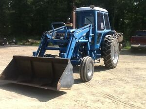 Ford 7710 Farm Tractor W loader And Cab And Air good Tires And Good Machine