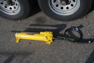 Enerpac P 80 Hydraulic Hand Pump 10 000psi W 6 Hose Coupler Nice