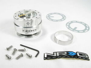 Nrg Steering Wheel Quick Release Kit Gen 1 0 Silver Body W Matte Silver Ring