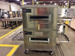 Middleby Marshall Ps200 Dbl Stack Conveyor Pizza Ovens Gas 12495
