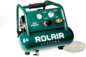 Hand Carry Portable Rolair Ab5 1 2 Hp Air Buddy Compressor Quiet 7 Cfm Oilless