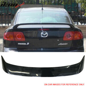 Fits 04 09 Mazda 3 Sedan Oe Factory Style Trunk Spoiler Painted 16w Black Mica