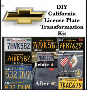 Diy California Legacy License Plates Chevy