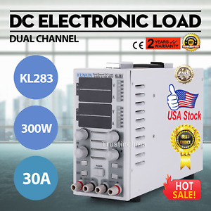 Dual Channel Adjustable Lcd Dc Electronic Load 300w 80v 30a Kl283 Us Express Sp
