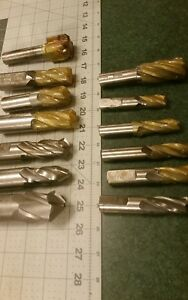 Huge End Mill Lot Flute Hss Tapered End Mill Conical Usa Various Angles Qty 13