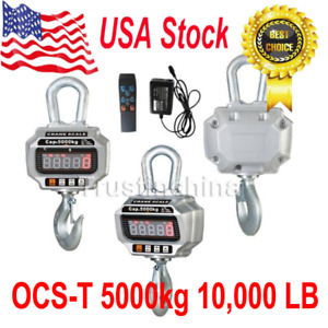 Ocs t 5000kg 10 000 Lb Heavy Duty Digital Crane Hanging Scale W Led Display Us