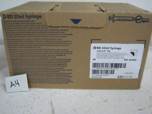 Bd Syringe 20ml Luer lok Tip 302830 Pk48 Per Box 3 Cases