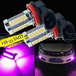 2x H8 H11 Purple 33smd 5730chip Led Lens Bulbs For Auto Car Driving Fog Lights