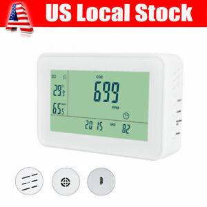 Carbon Dioxide Detector Co2 Monitor Temperature Humidity Meter Air Quality Test