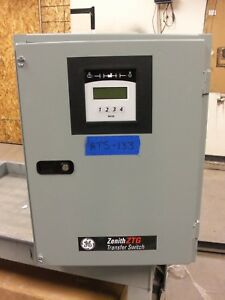 New Zenith 200 Amp Automatic Transfer Switch 3 Pole Phase Ats 208v 120v